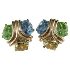 Check out this item at One Kings Lane! Ciner Pastel Stone Earrings
