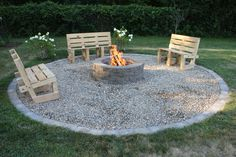 Our new fire pit. Almost done.