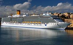 Télécharger fonds d'écran Costa port Charmant, navire de croisière, pier