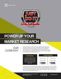 Clean Marketing Product Flyer Templates With Unique Style For
