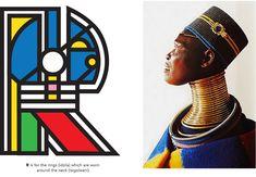Teaching Typefaces (Mogwalo Ndebele TTF) on Behance Africa Continent, Africa Art, Communication Design, African Design, Pattern Art, Cool Art, Nice Art, Typography Design, Design Projects
