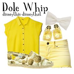 """Dole Whip"" by disneythis-disneythat ❤ liked on Polyvore"