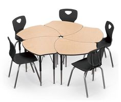 Collaborative Classroom Desk And Chair Packaged Sets With Shapes Desk And  Essential Stack Chairs. Images