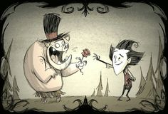 Don't Starve - Wilson & Pig Wallpaper by Jeff Agala