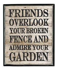 'Friends Overlook' Box Sign #zulily #zulilyfinds