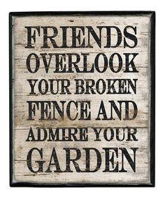 'Friends Overlook' Box Sign #zulily #zulilyfinds