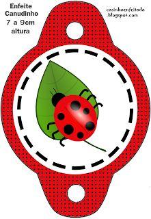 Kit Festa Joaninha Para Imprimir Grátis straw holders ladybug