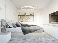 apartment on Panelnaya str. on Behance Home Design Decor, Interior Design, Home Decor, House Design Pictures, Small Spaces, Living Room Decor, Bed, Furniture, Ukraine
