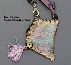 Poly Clay Letter Necklace Secret Lover by ShantyChicBeads
