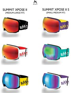 *Product Drop*   This was always going to be the natural progression for our #summitxpose frameless snow goggle.   Introducing the colour range for the brand new #XposeII snow goggle collection.  Available in 2 sizes, 6 colours and with additional Silver and Gold Chrome lenses available separately.   We'd love to know what you think!   #evolutionbydesign #summit #Xpose #xposeII #FRAMELESS #MAGNETIC #winter2015 #snow #ski #moutains #snowboarding #expandyourhorizons #newproduct #productdrop…