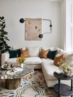 The perfect corner cream sectional sofa. Interior Design Work, Interior And Exterior, Find Work, Living Room Inspiration, Interior Inspiration, The Chic, Living Spaces, Home Living Room, Living Room Designs