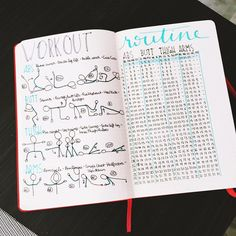 Bullet journal workout routine