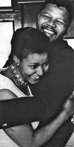 Nelson Mandela and Winnie Mandela from 'A Prisoner's Home' by Alf Kumalo and Zukiswa Wanner Nelson Mandela, My Black Is Beautiful, Black Love, Winnie Mandela, Famous Couples, African American History, My People, Young People, Black People