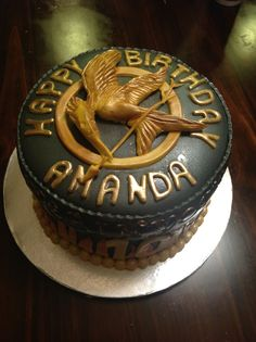 My birthday cake Hunger Games Cake, Hunger Games Party, Hunger Games Humor, Hunger Games Catching Fire, Hunger Games Trilogy, 23 Birthday Cake, 10th Birthday Parties, Birthday Ideas, Amazing Cakes