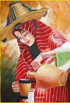 women form north morocco give a here hasband a cuo of weater Moroccan Party, Moroccan Dress, Im Proud Of You, We Are All One, Ballet Art, South Of The Border, Woman Painting, Art Education, Flower Art