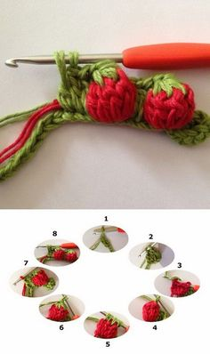 Strawberry Stitch Tutorial.                                                                                                                                                                                 More