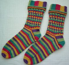 Mermaid socks by Lucy Neatby - keep foot plain for comfort/wear.