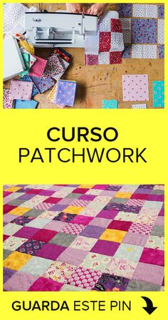 Curso de Patchwork GRATIS Learn with this Patchwork course completely free and online. Patchwork Quilt Patterns, Patchwork Quilting, Hobbies And Crafts, Diy Crafts To Sell, Aplique Quilts, Quilt Sets, Something To Do, Patches, Texture
