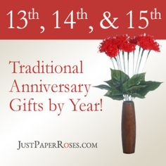 13th 14th and 15th traditional wedding anniversary gifts by year