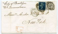 1871 2d blue plate 14 + 1874 6d grey plate 13 on a wrapper London to New York | eBay