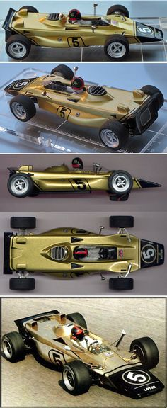 Proto Slot MN004/2P  Ready-to run model of the F1 derivative of the Lotus 56 Indianapolis car as driven by a young Emerson Fittipaldi at the beginning of his F1 career.