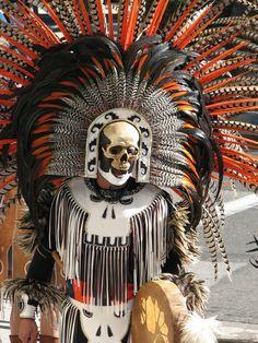 Aztec dancer Dia de los Muertos