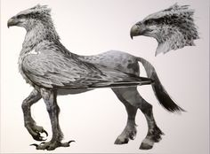 "Hippogriff/Hippogryph - a mix of an eagle (the Osprey or the Harpy is mostly used in depictions - for example the ""Harry Potter"" movies) - Poetry of the Italian Renaissance; It is the offspring of an Gryphon/Griffin and a mare. It travels quickly through the air and is said to be able to fly to the moon and back ."