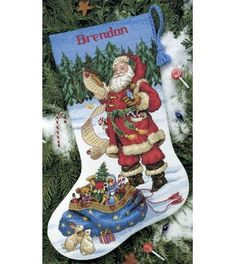 Dimensions Counted Cross Stitch Kit Checking His List, , hi-res