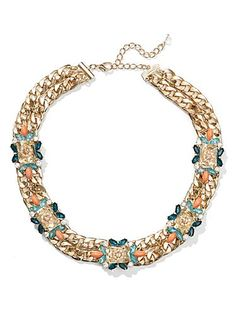 Shop Eva Mendes Collection - Beaded Floral Necklace . Find your perfect size online at the best price at New York & Company.