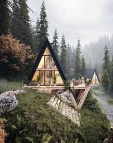 Super Tree House Homes Interior Architecture Ideas A Frame Cabin, A Frame House, Tiny House Cabin, Cabin Homes, Tiny Homes, Dream Homes, Style At Home, Cabin Design, House Design