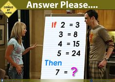 If 2 = 3 Then 7 = ? – Maths Puzzles Images – Only for Geniuses
