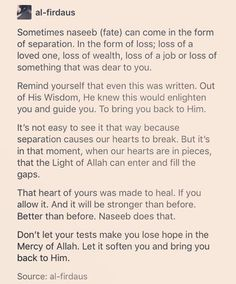 Do not lose hope in the Mercy of Allah. #Islam
