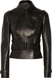 Burberry ProrsumDouble-breasted leather jacket