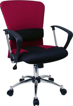 Mid-Back Burgundy Mesh Swivel Task Office Chair with Adjustable Lumbar Support and Arms – The versatility of a task chair can easily transition and conform in a variety of settings. The breathable mesh back allows air to circulate to keep you cool. Swivel Office Chair, Mesh Office Chair, Office Desk, Office Chairs, Red Office, Office Seating, Mesh Chair, Diy Chair, Contemporary Office