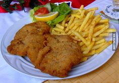 """Wiener Schnitzel"" a traditional food from Austria!"