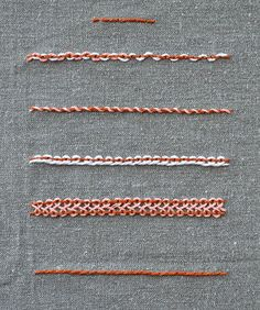 back stitch overview of embroidery stitches