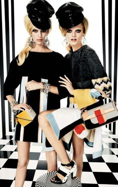 Hanne Gaby Odiele & Juliana Schurig by Giampaolo Sgura for Vogue Japan March 2013♛ ♛~✿Ophelia Ryan ✿~♛