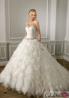 Organza and Tulle with Beading Wedding Dress - Luxury Dresses - Wedding Dresses - CDdress.com
