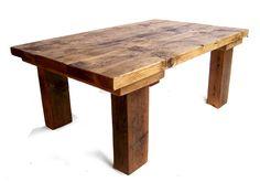 reclaimed wood coffee table mileshawkins.com