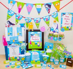 Adventure Time Party DIY Printable Kit - INSTANT DOWNLOAD - Adventure Time Party Inspired