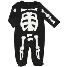 Carter's Glo-in-the_Dark Skeleton Onesie: Made of 100% cotton. #Onesie #Skeleton #Carters
