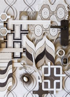 Pattern Power!  Stone mosaic and waterjet patterns enliven a room with visual drama – choosing designs with  neutral hues, like these from our Jet Set, Tangent and Sonja Collections ensures the drama won't overwhelm the rest of the design scheme.