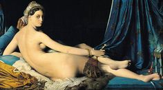 La Grande Odalisque 1814, in the Louvre, is one of Jean Auguste Dominique Ingres most recognizable paintings. He is classed a Neo-classical Painter and is an important precursor of Modern Art. Check out the elongated pose of this woman. If you look carefully she is actually quite distorted. Now check out Modigliani, Matisse and Picasso to see where they drew inspiration.