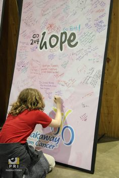 Inspirational Message boards at 26.2 with Donna Health and Fitness Expo in Jacksonville, FL