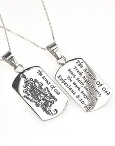 Girl's Dog Tag - Armor Of God - Christian Necklace for $25.95 | C28.com