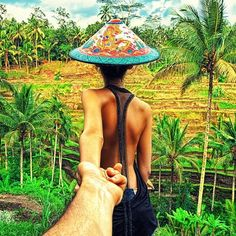 The rice fields in Bali.