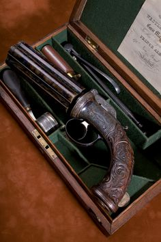 An Exhibition Westley Richards 5 Shot 55 bore Percussion Pepperbox Pistol