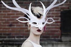 Paper deer mask.