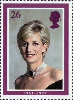 Diana, Princess of Wales Commemoration 26p Stamp (1998) Diana, Princess of Wales (photo by Lord Snowdon)