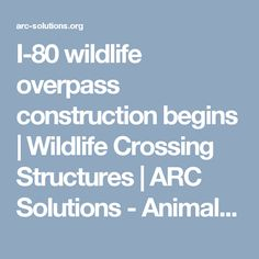 ARC—Animal Road Crossings—is an interdisciplinary partnership working to facilitate new thinking, new methods, new materials and new solutions for wildlife crossing structures. Environmental Ethics, Begin, Wildlife, Construction, Animals, Building, Animales, Animaux, Animal